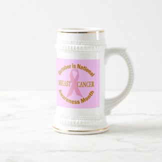OCTOBER is Breast Cancer Awareness Month Beer Stein
