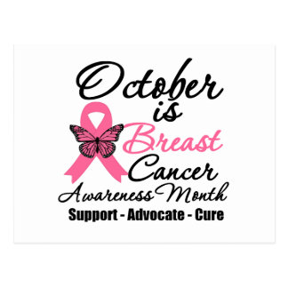 October is Breast Cancer Awareness Month Postcards