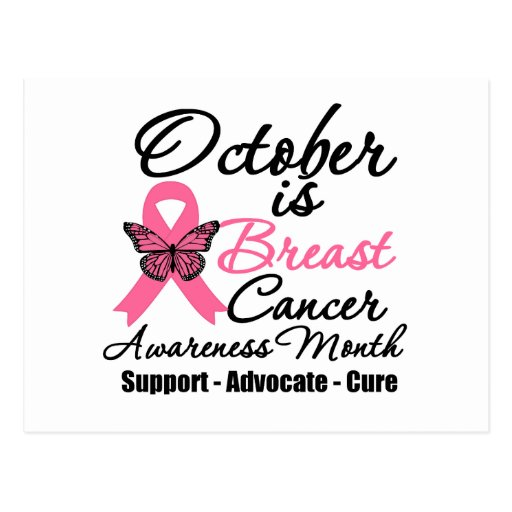 October is Breast Cancer Awareness Month Postcard