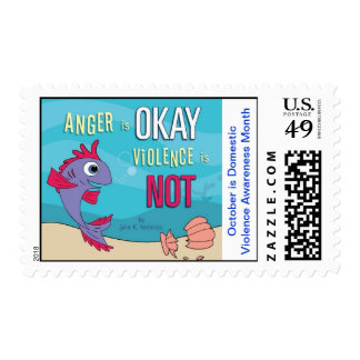 October is Domestic Violence Awareness Month Postage