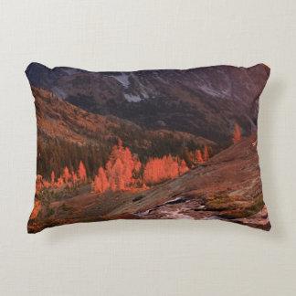 October Light on Headlight Basin Decorative Pillow
