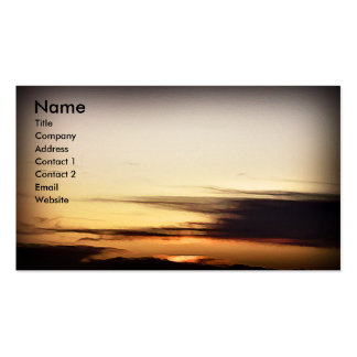 October Morn, business card template Pack Of Standard Business Cards
