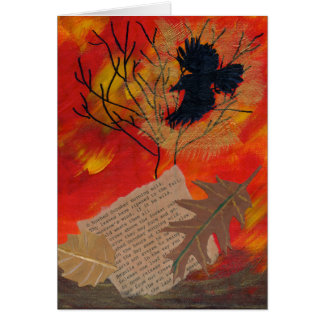 October Painting Robert Frost Poetry Greeting Card