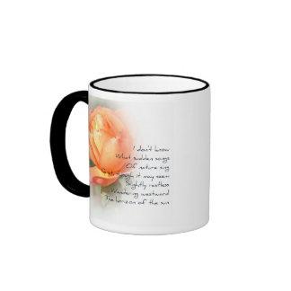 October Peach Rose Poetry Mug