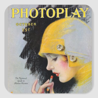 October Photoplay Square Sticker