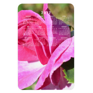October Pink Rose Calendar Magnet