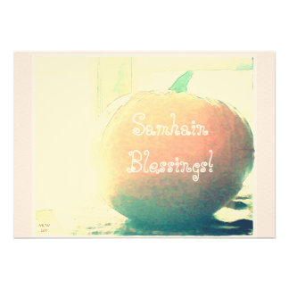 October Pumpkin Samhain Blessings* Card