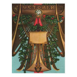 October - Scorpio Postcard