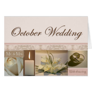 October Scrapbook Wedding Card