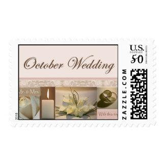 October Scrapbook wedding design Postage