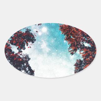 October Sky Oval Sticker