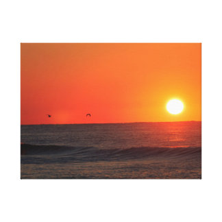 October Sunrise at Pensacola Beach Stretched Canvas Prints