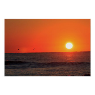 October Sunrise at Pensacola Beach Poster