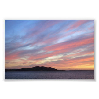 October sunset photograph