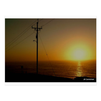 October Sunset Postcard