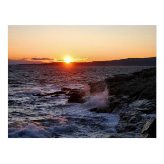 'October Sunset, Schoodic Point 2' Postcard