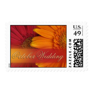 October Wedding colors Postage Stamps