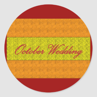 """October Wedding"" Elegant Sticker"