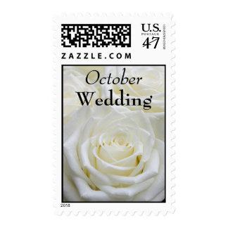 October Wedding Postage