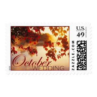 October Wedding Postage Stamp