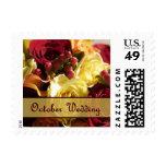 October Wedding Postage Stamps