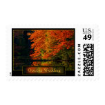 October Wedding Save The Dates  Invitation Postage