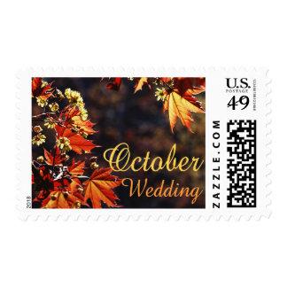 October Wedding stamps