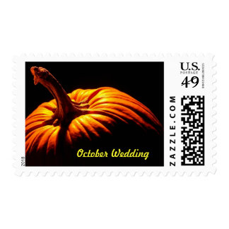 October Wedding Theme Wedding Invitations Postage Stamps