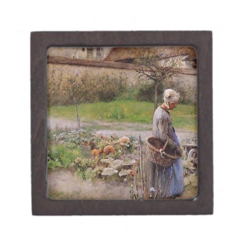 October with Woman in Her Garden Premium Gift Box