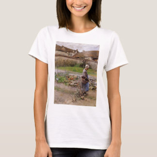 October with Woman in Her Garden T-Shirt