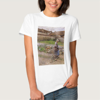 October with Woman in Her Garden T Shirts