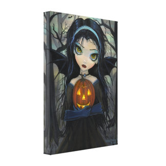 October Woods Halloween Vampire Canvas Print