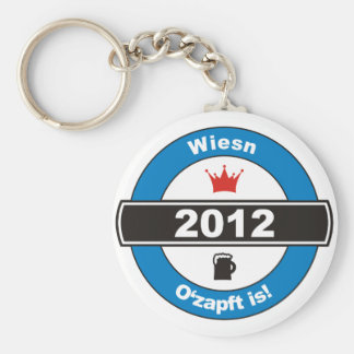 Octoberfest 2012 Octoberfests ozapft is.png Basic Round Button Keychain