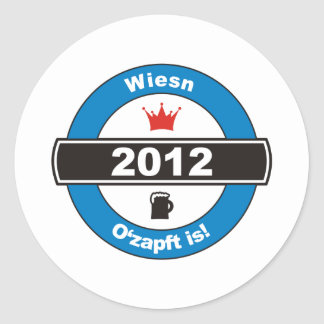 Octoberfest 2012 Octoberfests ozapft is.png Classic Round Sticker
