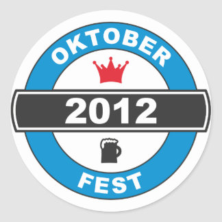 Octoberfest 2012.png classic round sticker