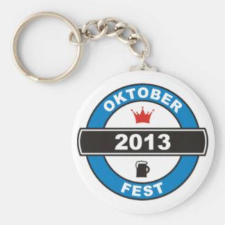 Octoberfest 2013 basic round button keychain