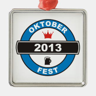 Octoberfest 2013 metal ornament