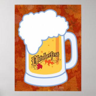 octoberfest beer mug poster