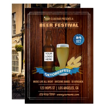 Professional Business Octoberfest Club/Pub/Company add photo and logo Card