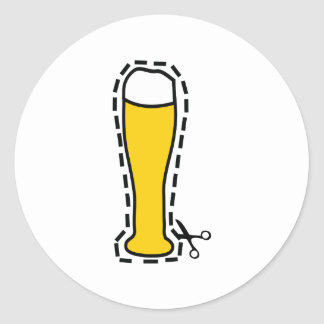 octoberfest cutout wheat beer bavaria classic round sticker