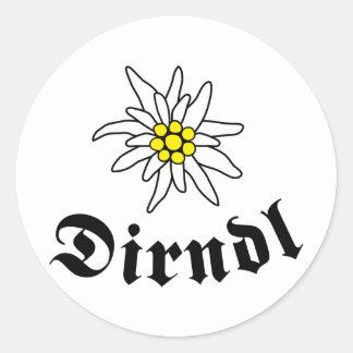 Octoberfest Dirndl Classic Round Sticker