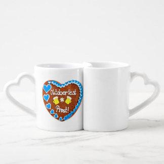 Octoberfest gingerbread heart cups