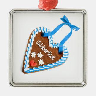 Octoberfest gingerbread motive metal ornament