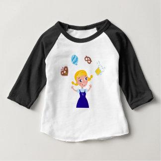 Octoberfest girl : blue costume baby T-Shirt