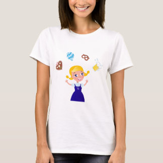 Octoberfest girl : blue costume T-Shirt