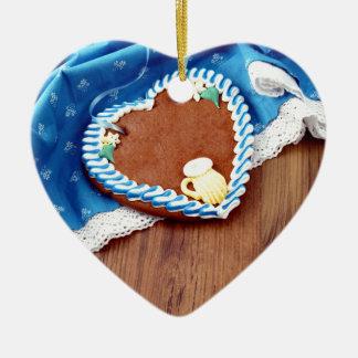 Octoberfest going hereditary READ Heart Ceramic Ornament