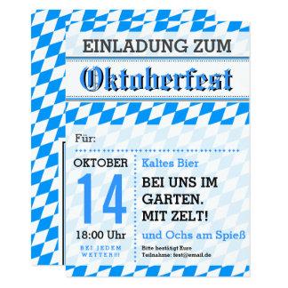 Octoberfest invitation grey blue