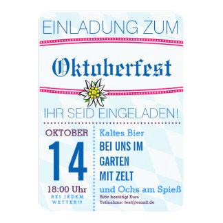Octoberfest invitation minimalistic