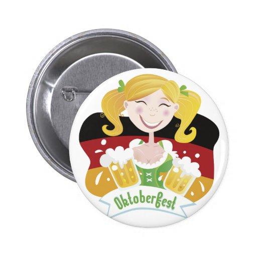 Octoberfest Mädchen Pin