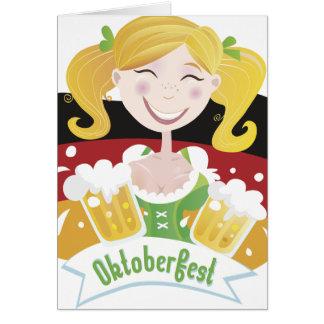 Octoberfest Mädchen Card
